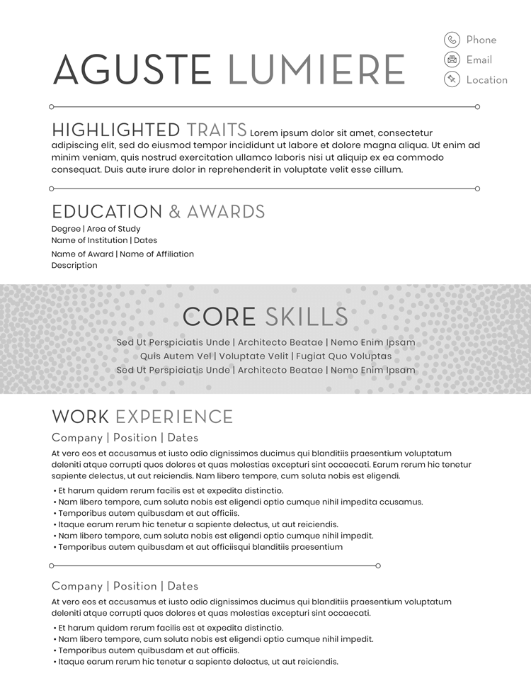 Aguste Lumiere Resume Template