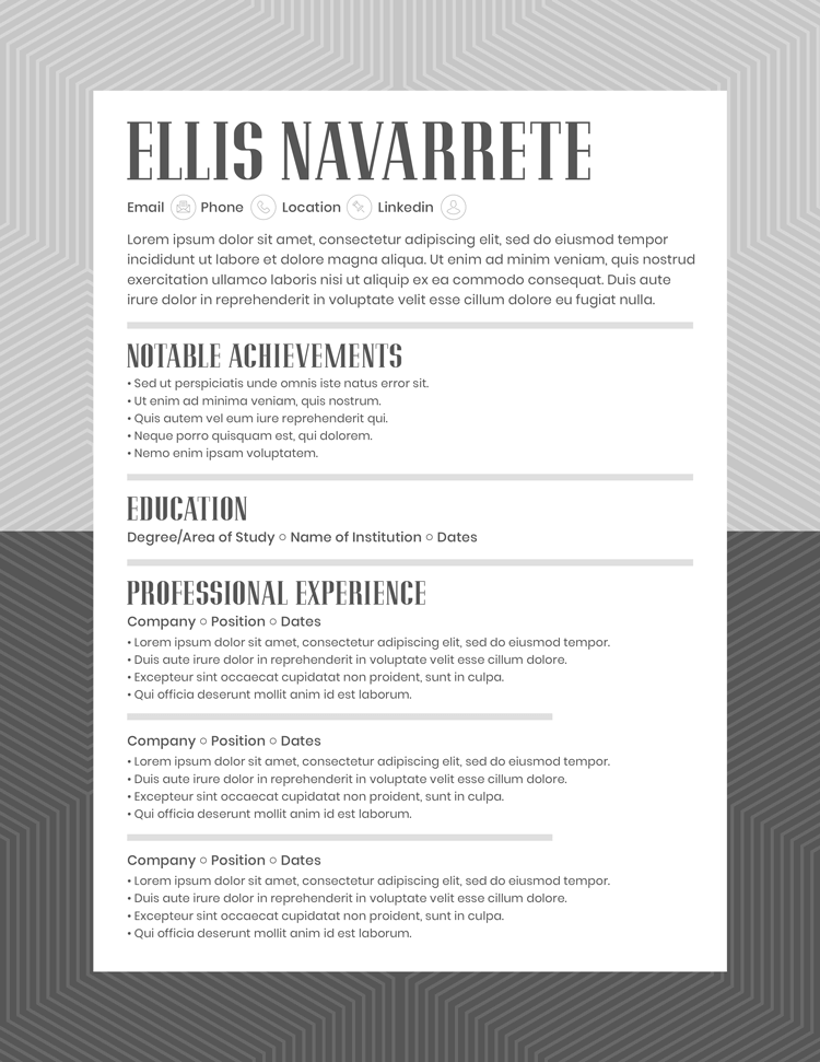 Ellis Navarrete Resume Template