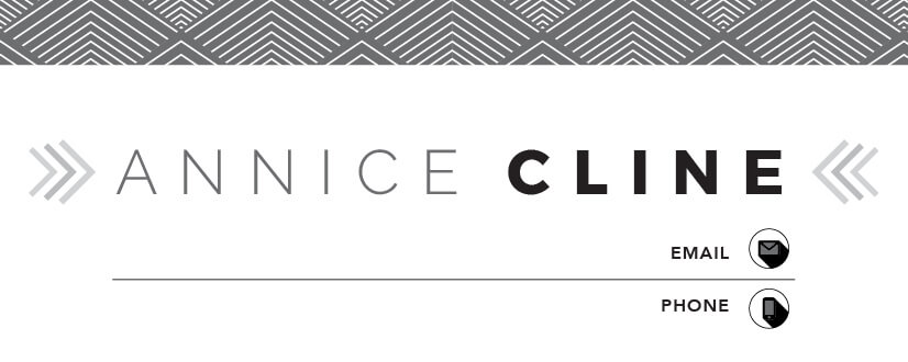 Annice Cline Mini Business Card Template Front