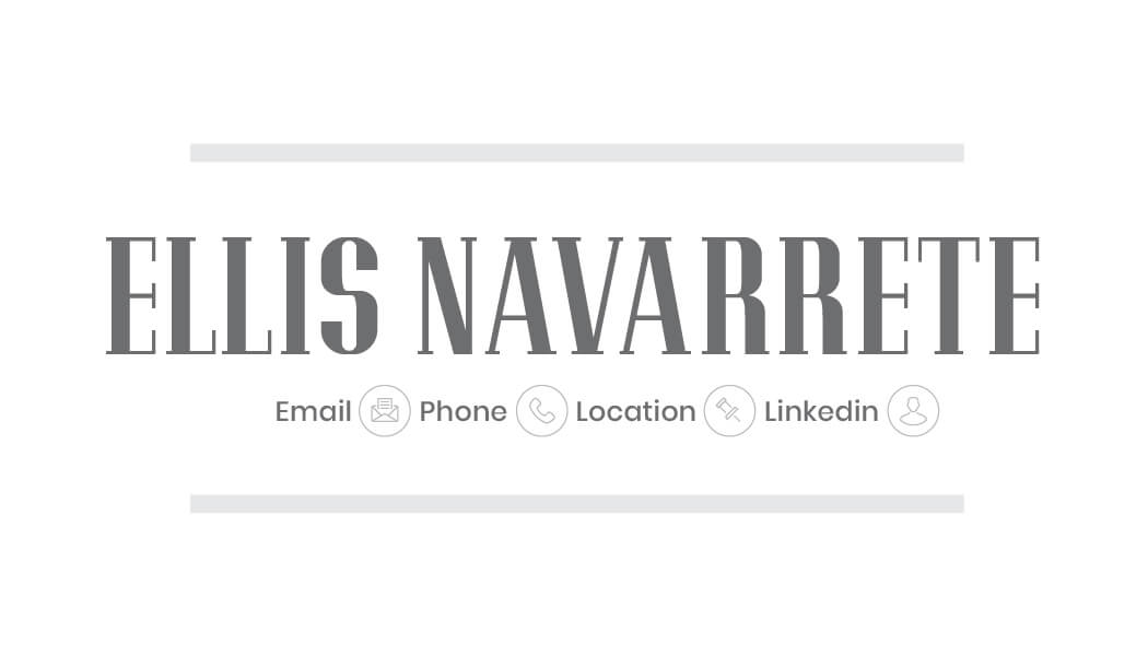 Ellis Navarrete Business Card Template Front