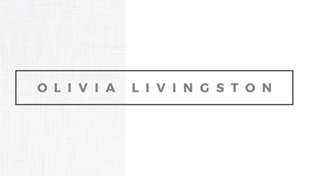 Olivia Livingston Business Card Template Front