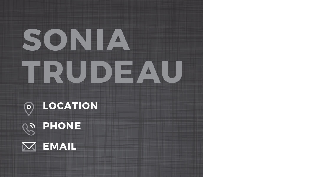 Sonia Trudeau Business Card Template Front