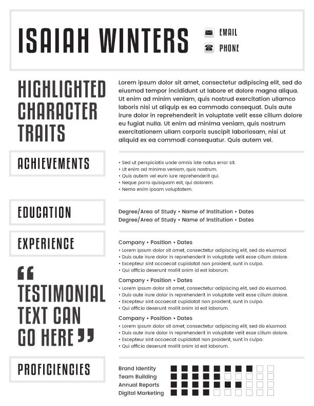 digital resume template ideas email resume template