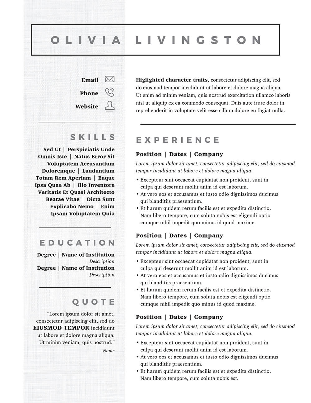 personality traits in resume free business meeting minutes